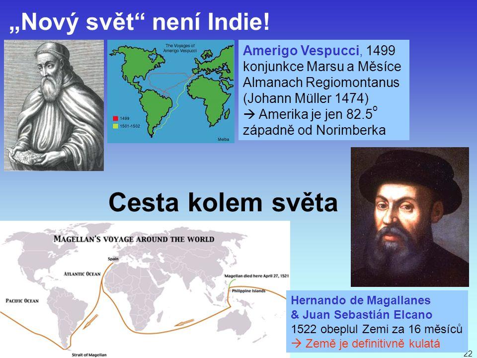 """Cesta kolem světa """"Nový svět není Indie! Amerigo Vespucci, 1499"""
