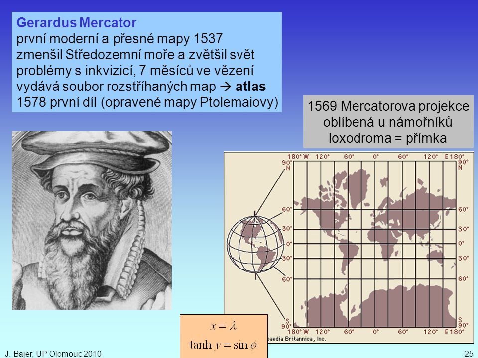 první moderní a přesné mapy 1537