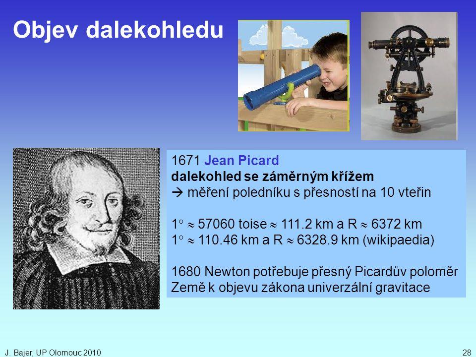 Objev dalekohledu 1671 Jean Picard dalekohled se záměrným křížem