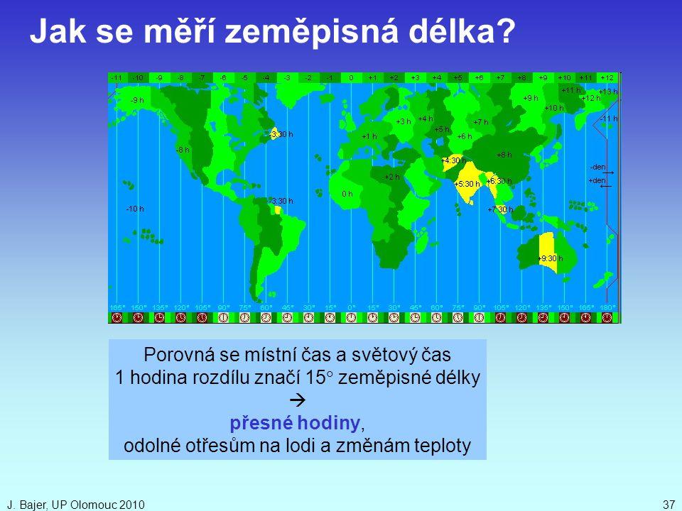 Jak se měří zeměpisná délka