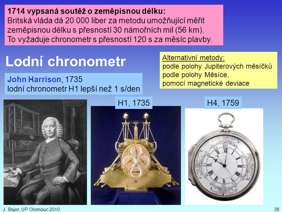 Lodní chronometr 1714 vypsaná soutěž o zeměpisnou délku: