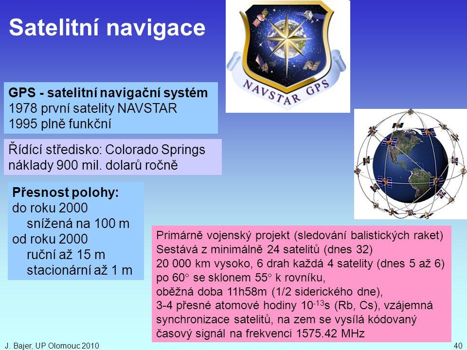 Satelitní navigace GPS - satelitní navigační systém