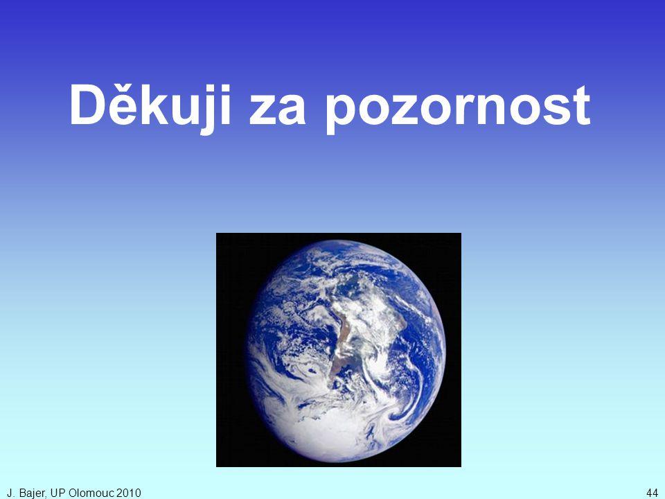 Děkuji za pozornost J. Bajer, UP Olomouc 2010