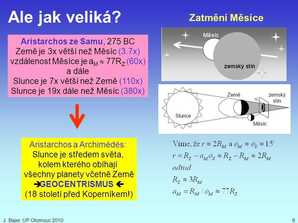 Ale jak veliká Zatmění Měsíce Aristarchos ze Samu, 275 BC