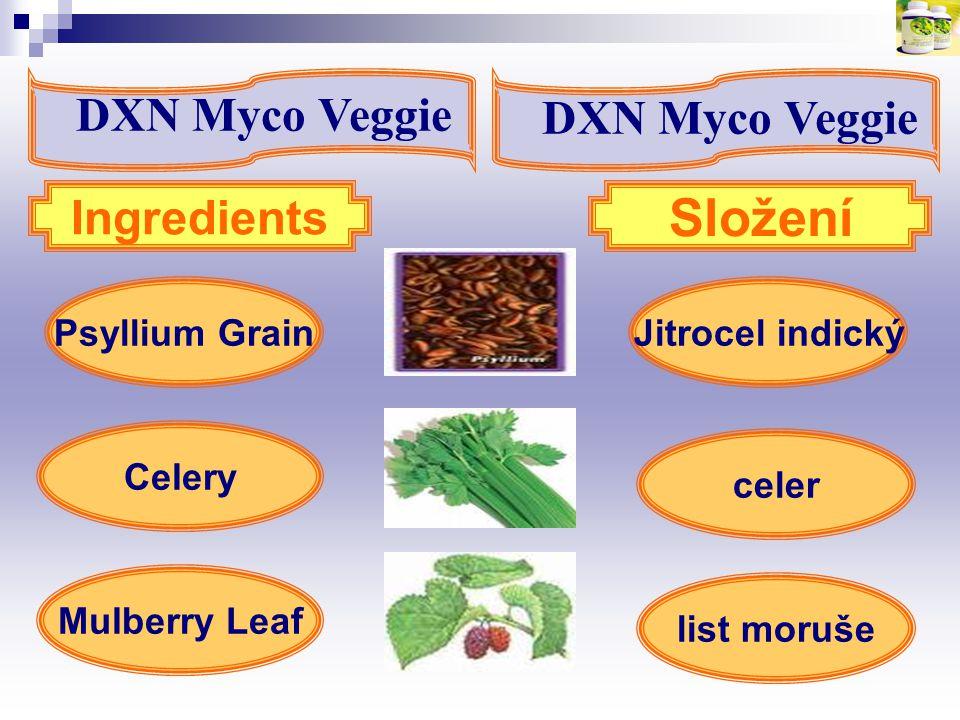 Složení DXN Myco Veggie DXN Myco Veggie Ingredients Psyllium Grain