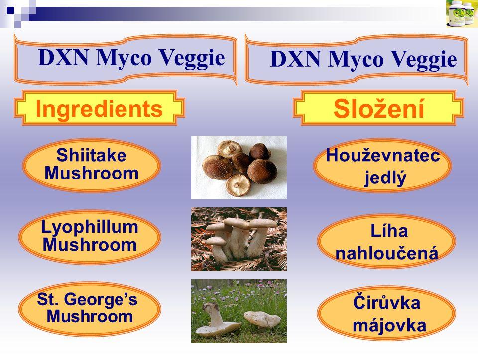 Složení DXN Myco Veggie DXN Myco Veggie Ingredients Shiitake Mushroom