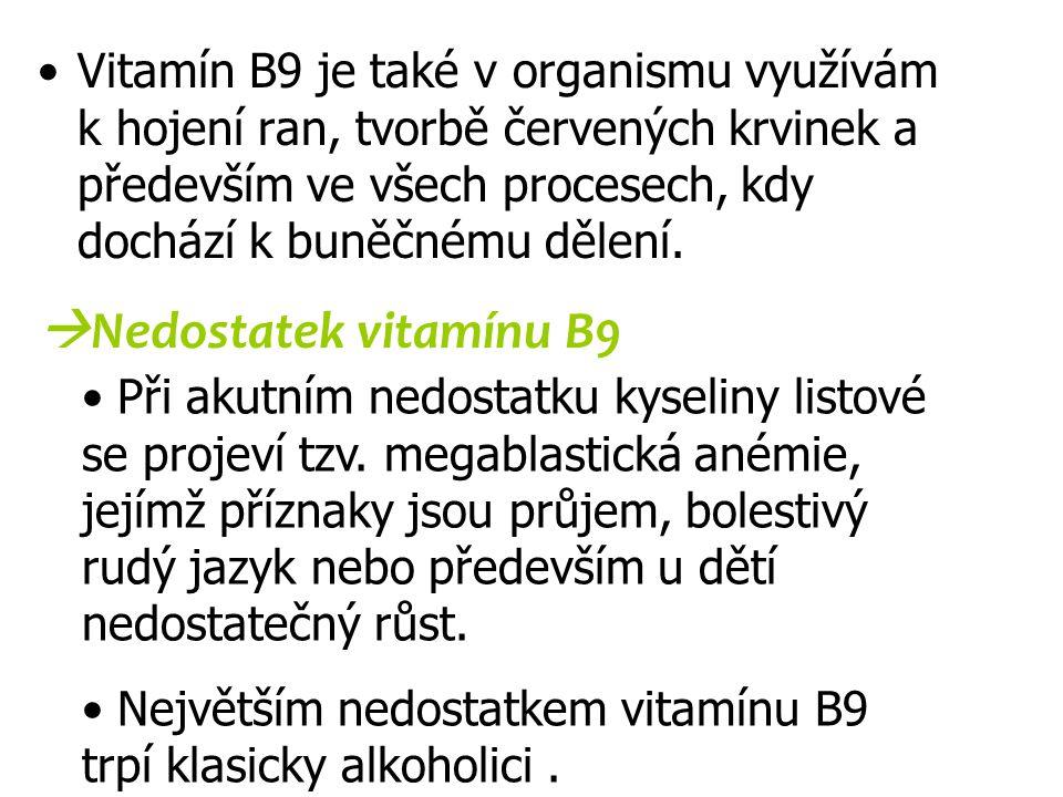 Nedostatek vitamínu B9