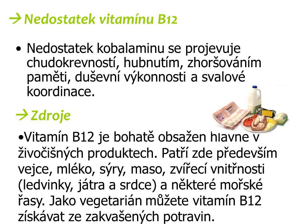  Nedostatek vitamínu B12