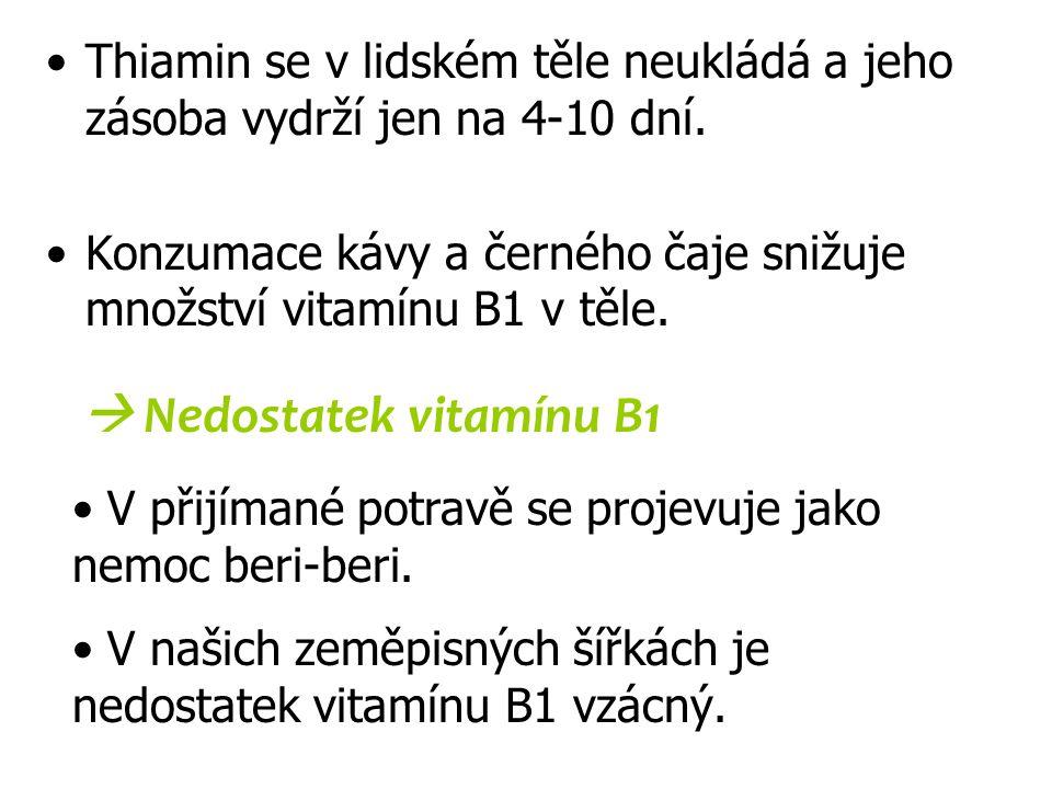  Nedostatek vitamínu B1