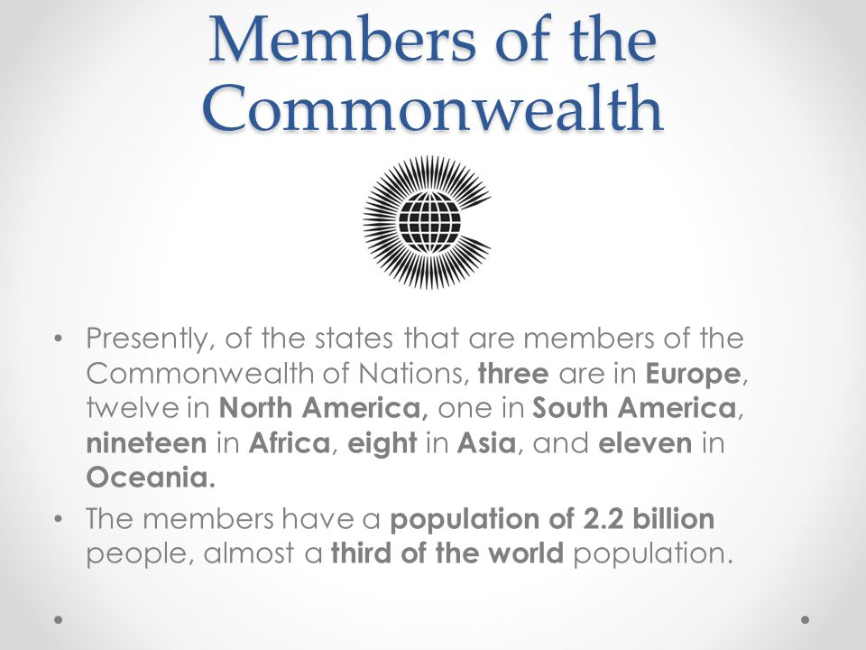 Members of the Commonwealth