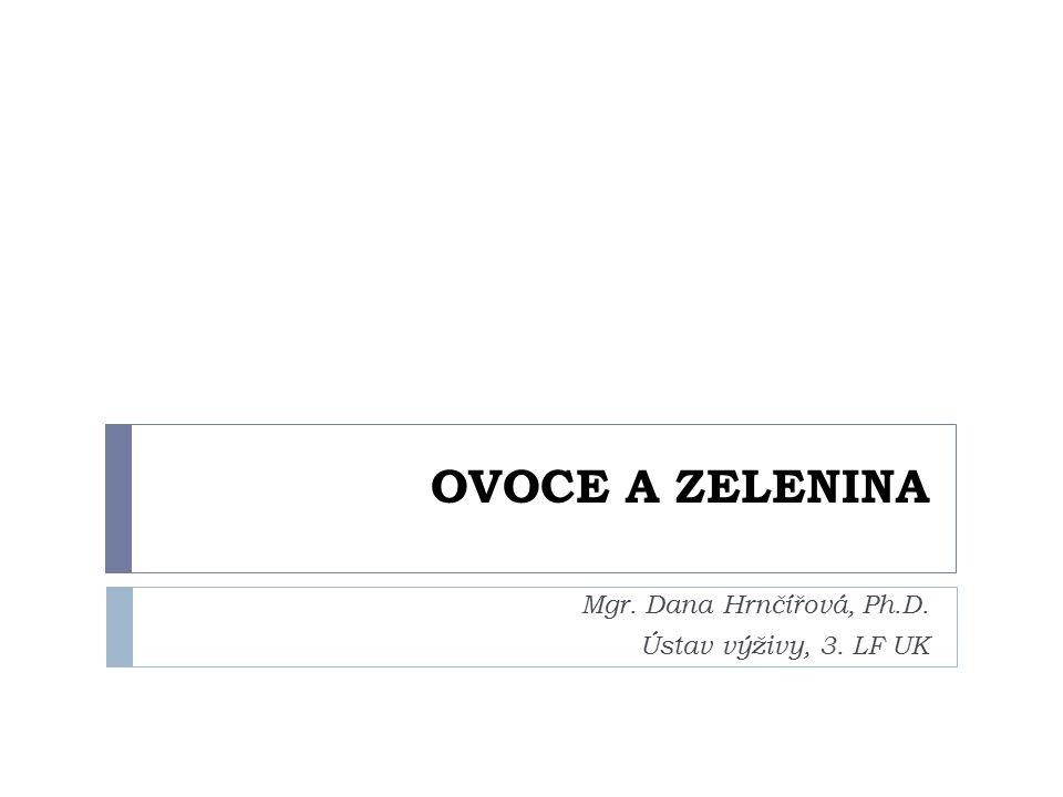 Mgr. Dana Hrnčířová, Ph.D. Ústav výživy, 3. LF UK