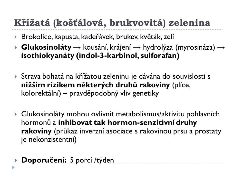 Křížatá (košťálová, brukvovitá) zelenina
