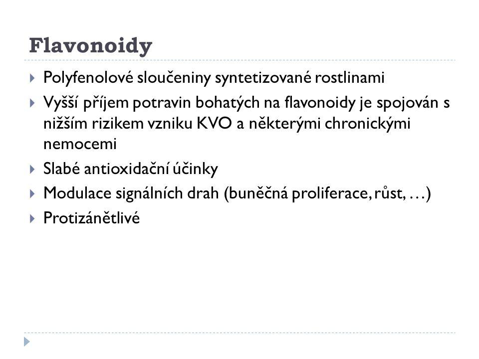 Flavonoidy Polyfenolové sloučeniny syntetizované rostlinami