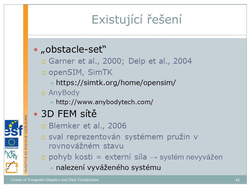 """Existující řešení """"obstacle-set 3D FEM sítě"""