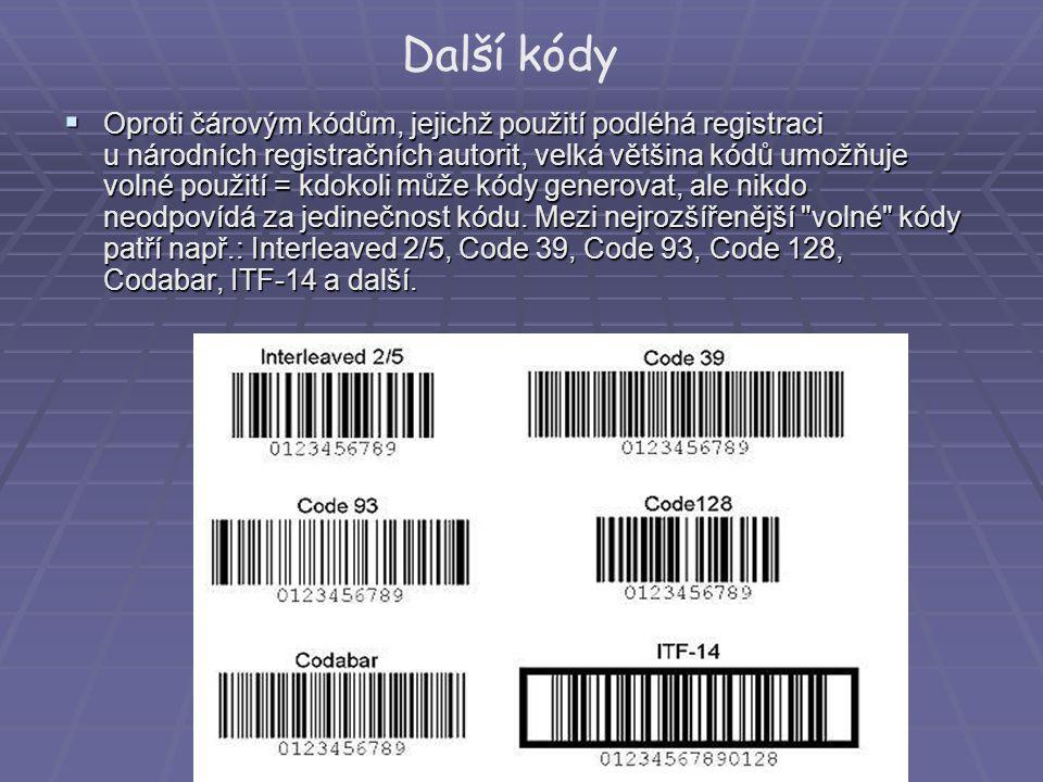 Další kódy