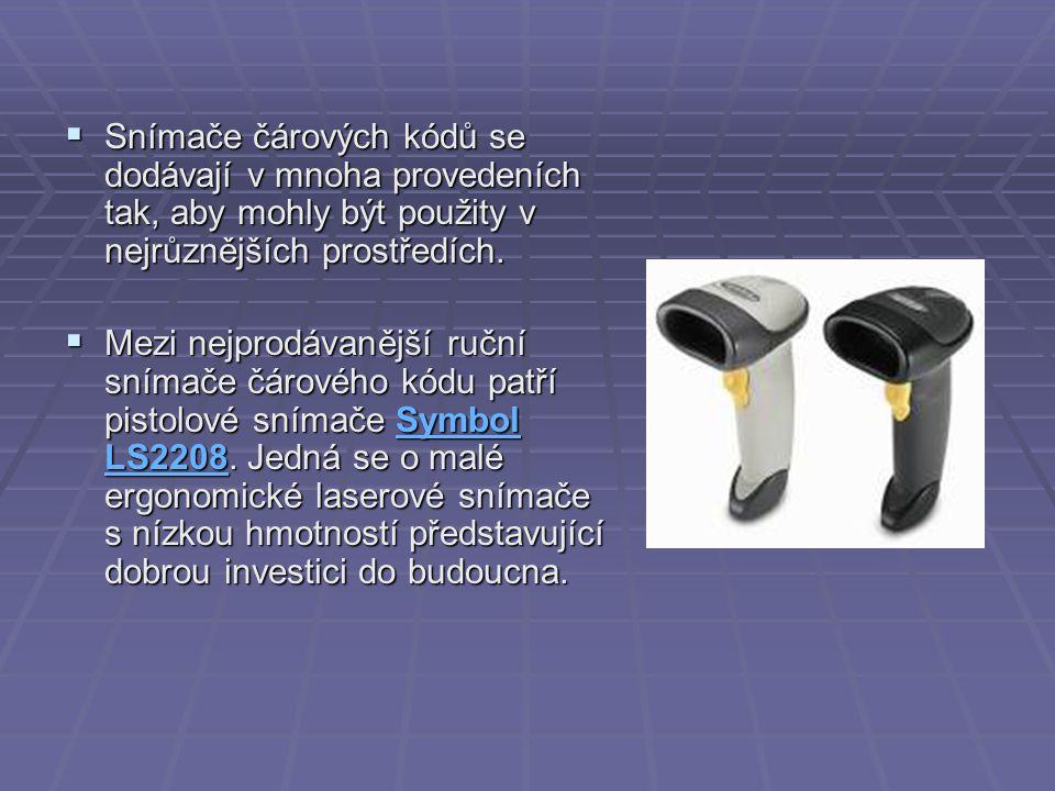 Snímače čárových kódů se dodávají v mnoha provedeních tak, aby mohly být použity v nejrůznějších prostředích.