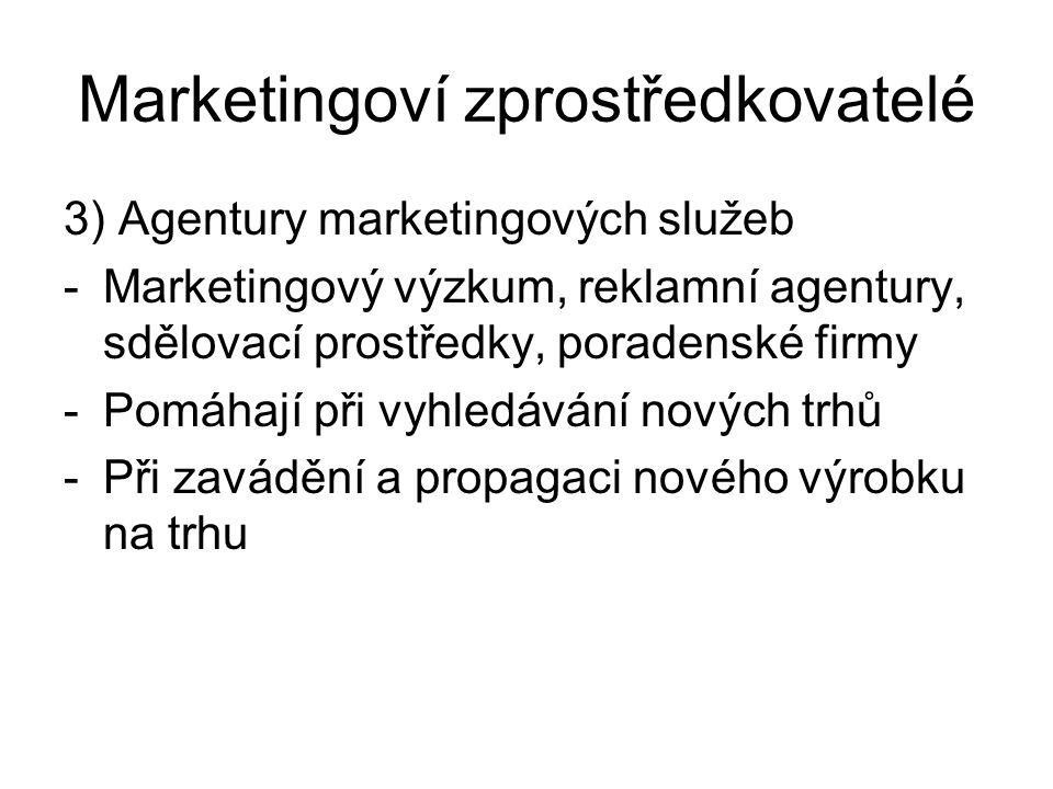 Marketingoví zprostředkovatelé