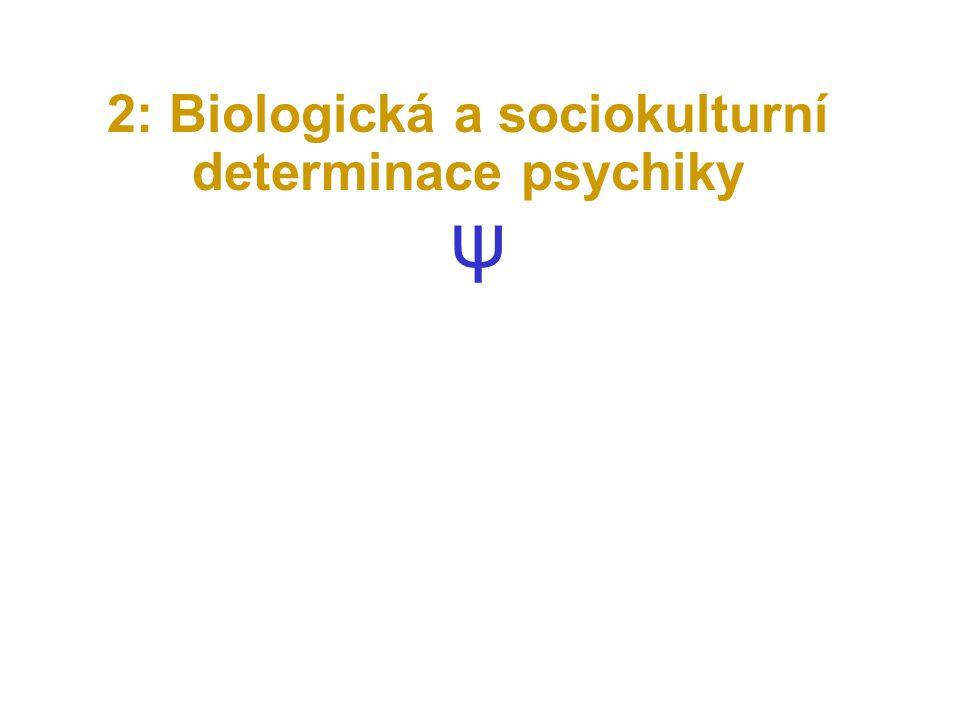 2: Biologická a sociokulturní determinace psychiky