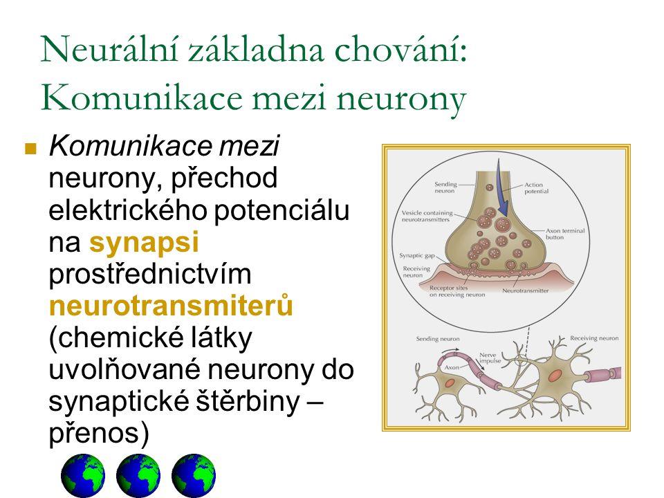 Neurální základna chování: Komunikace mezi neurony