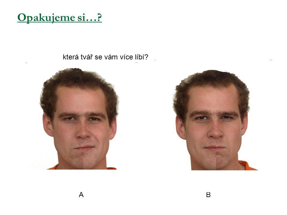 Opakujeme si… která tvář se vám více líbí A B