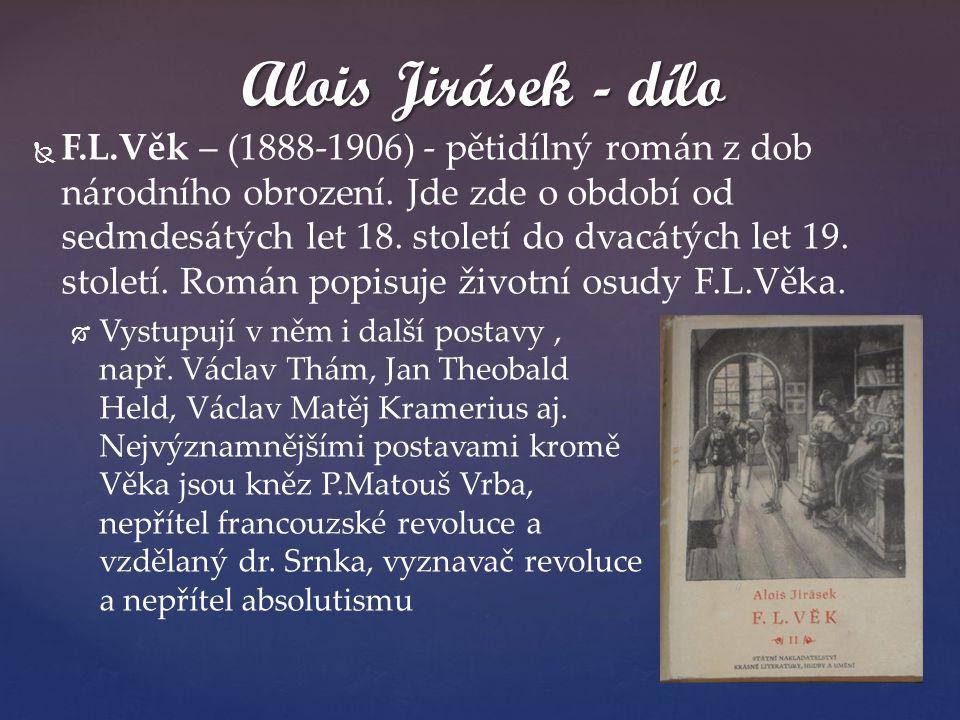 Alois Jirásek - dílo