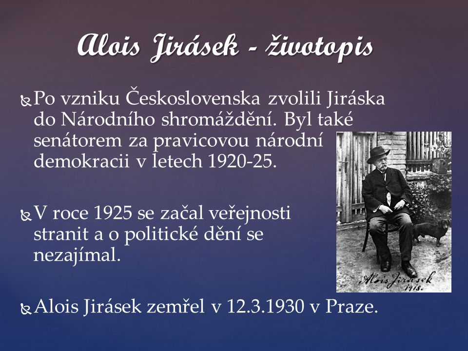 Alois Jirásek - životopis