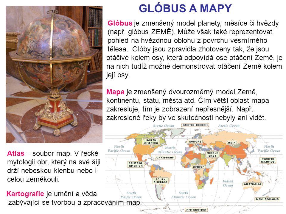 GLÓBUS A MAPY