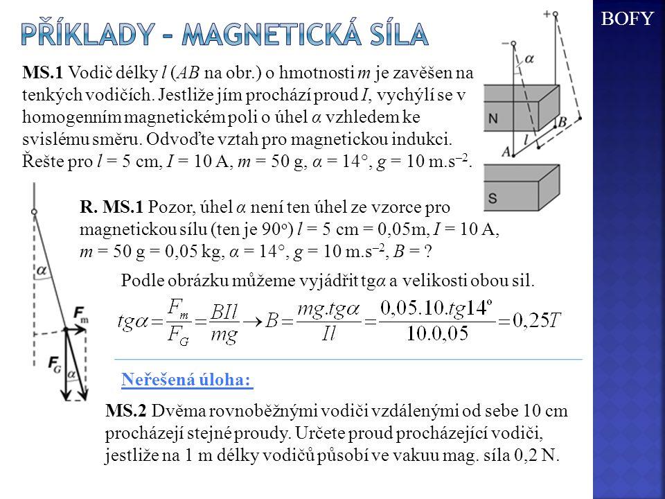 Příklady – magnetická síla