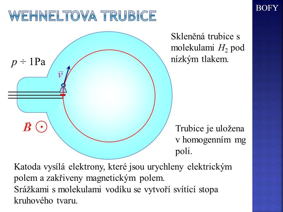 Wehneltova trubice p ÷ 1Pa