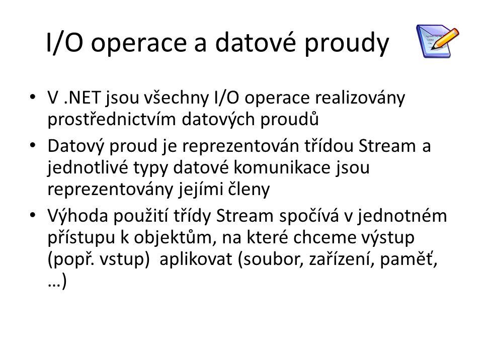 I/O operace a datové proudy