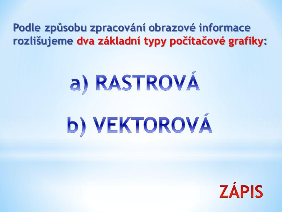 a) RASTROVÁ b) VEKTOROVÁ