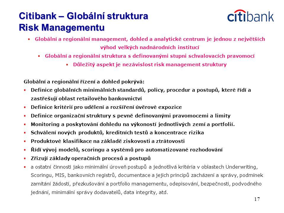 Důležitý aspekt je nezávislost risk management struktury