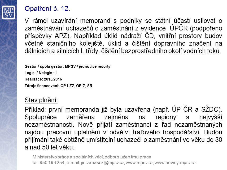 Opatření č. 12.
