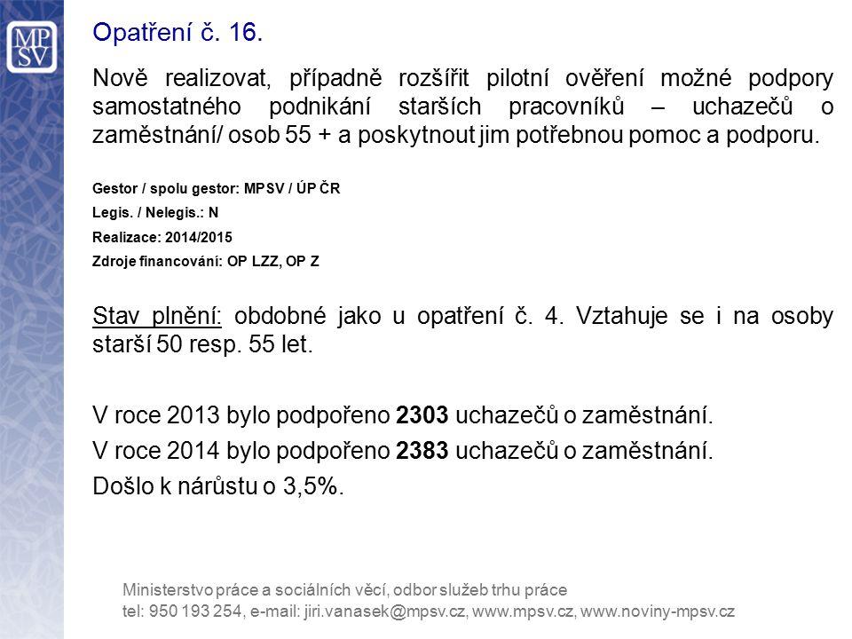 Opatření č. 16.