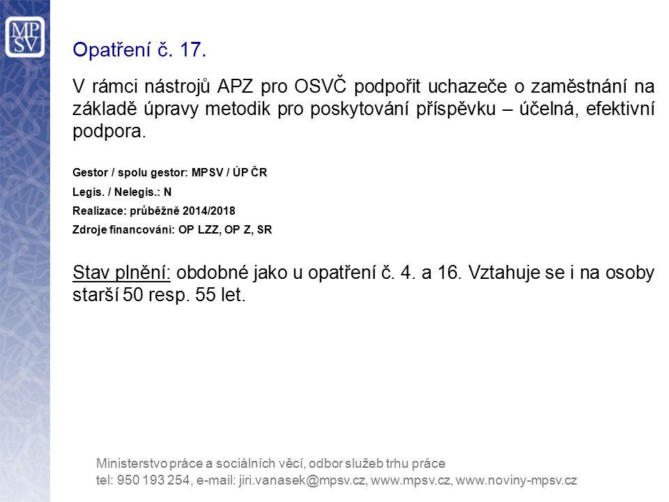 Opatření č. 17.
