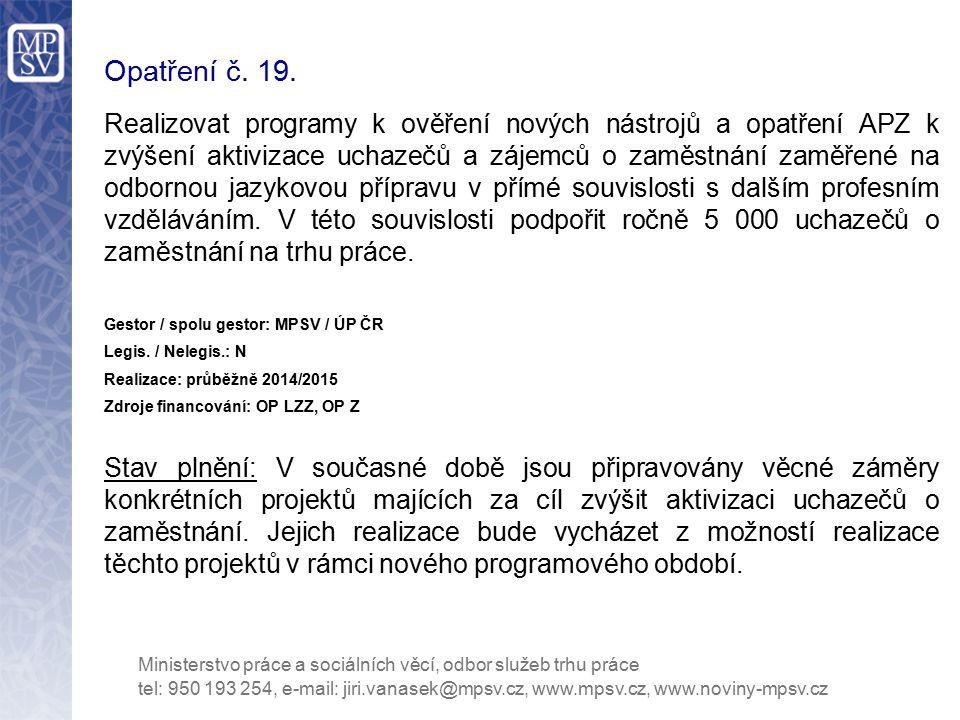 Opatření č. 19.