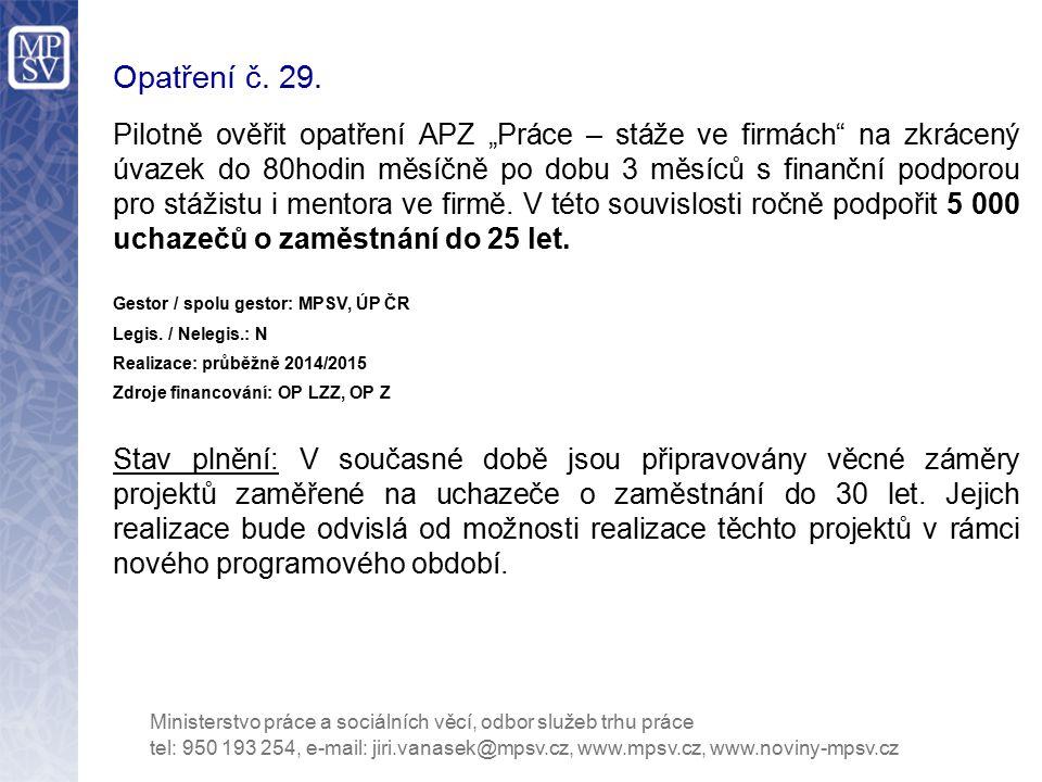 Opatření č. 29.
