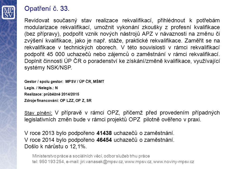 Opatření č. 33.
