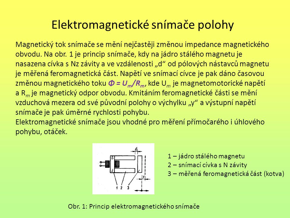 Elektromagnetické snímače polohy