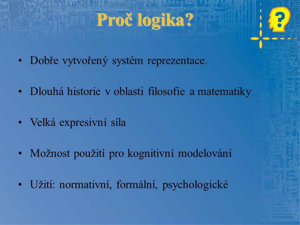 Proč logika Dobře vytvořený systém reprezentace.