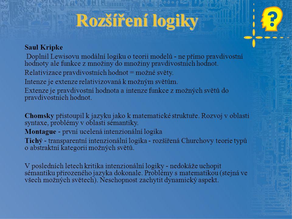 Rozšíření logiky Saul Kripke