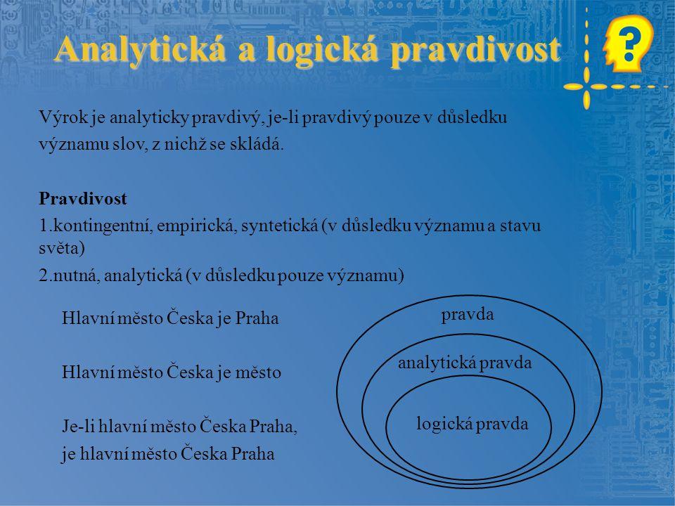 Analytická a logická pravdivost