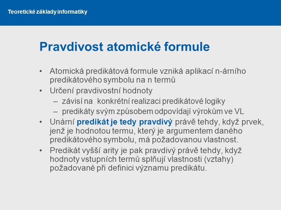 Pravdivost atomické formule