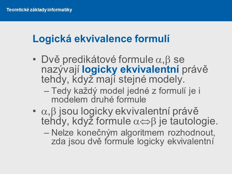 Logická ekvivalence formulí