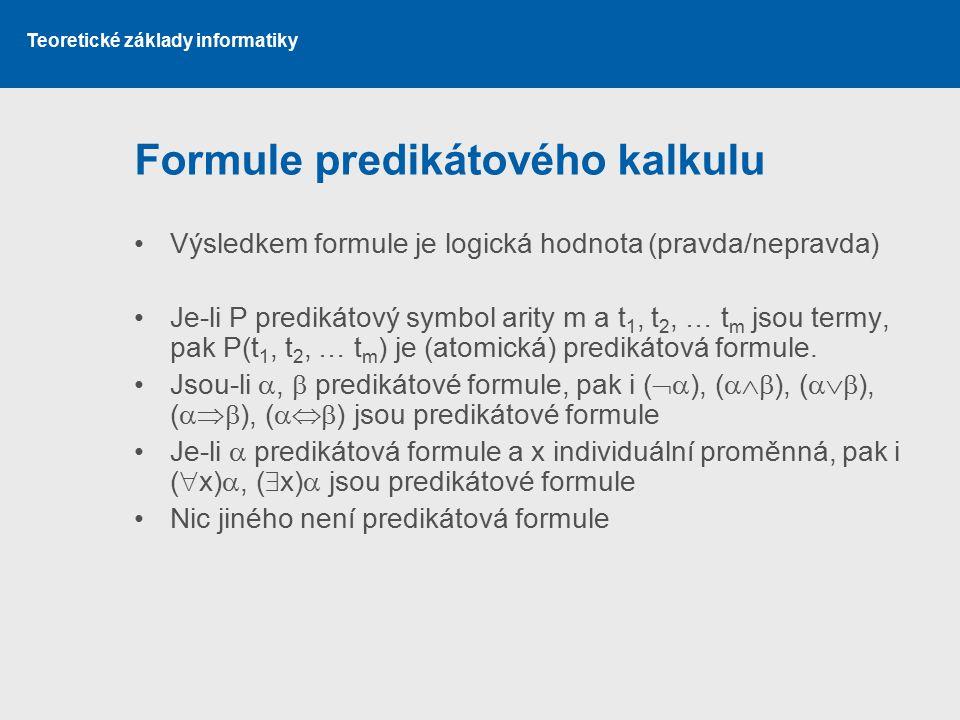 Formule predikátového kalkulu