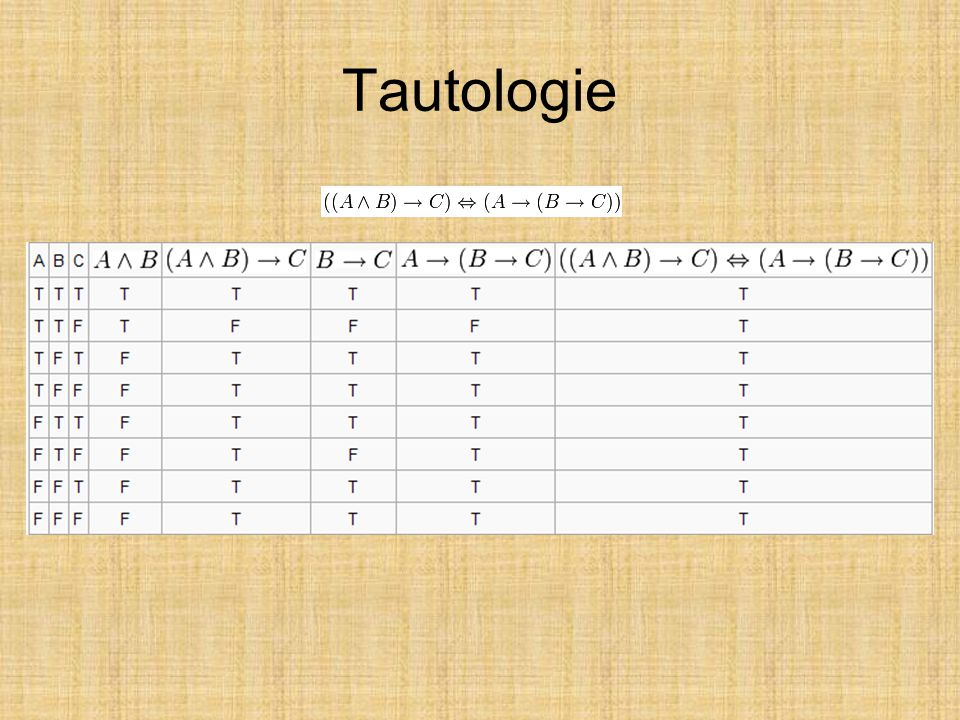 Tautologie