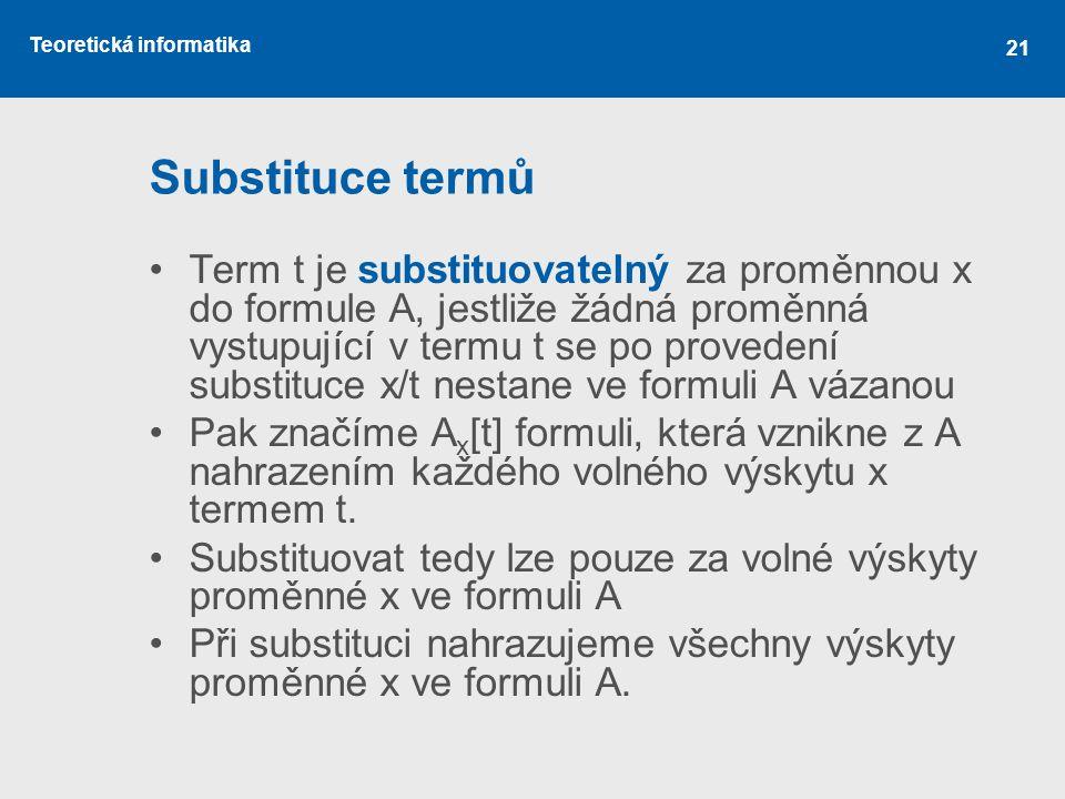 Substituce termů