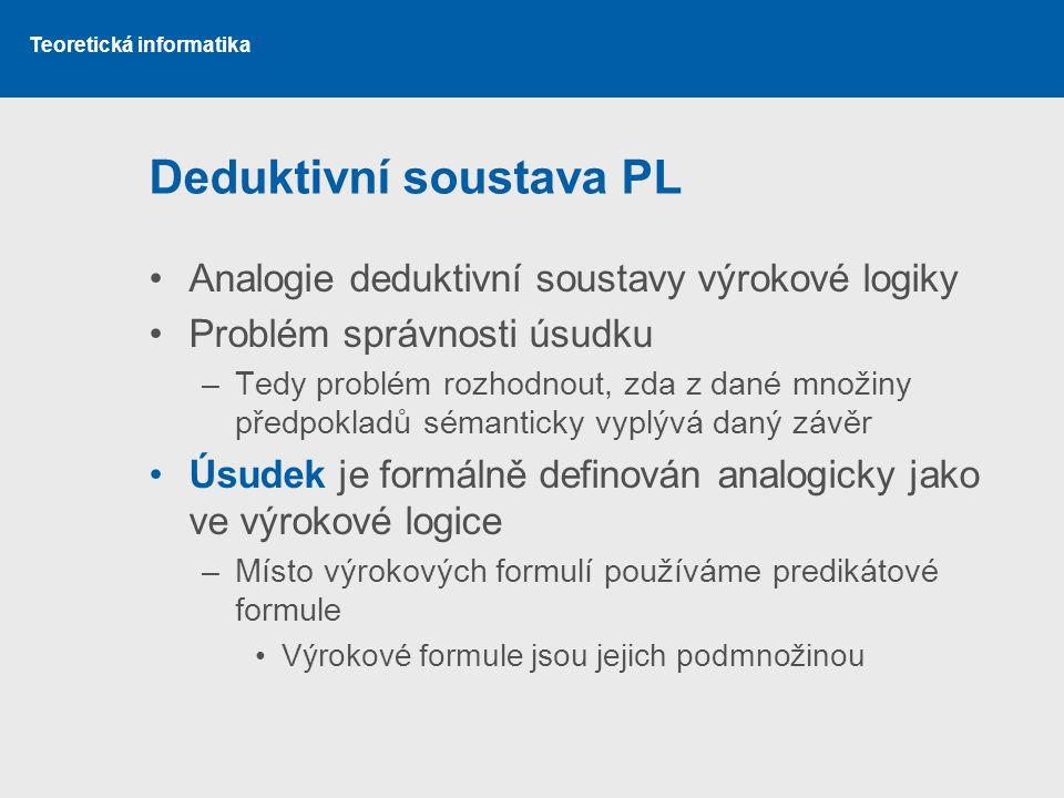 Deduktivní soustava PL