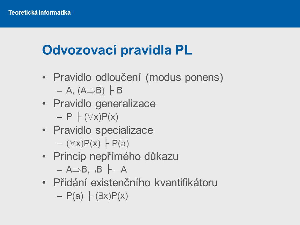 Odvozovací pravidla PL