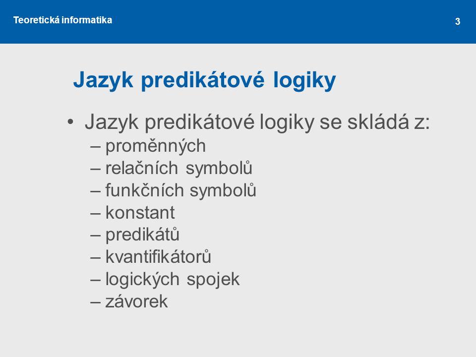 Jazyk predikátové logiky